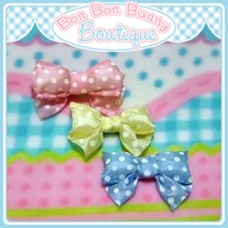 Puffy Bow Small - Polka Dots