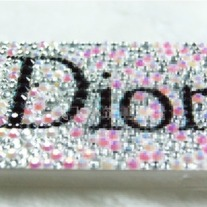 Bling Sparkle Crystal Dior Logo Rhinestones iphone 4/4S Case (#737)