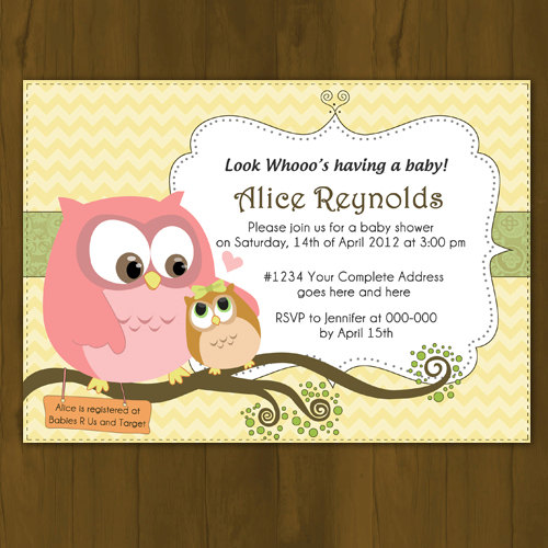 Owl baby shower invitation mommy and baby owl 183 splashbox