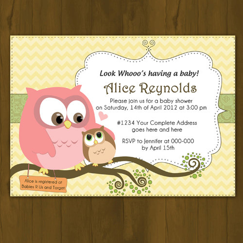 owl baby shower invitation mommy and baby owl on storenvy