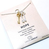 Three Keys Hope Necklace
