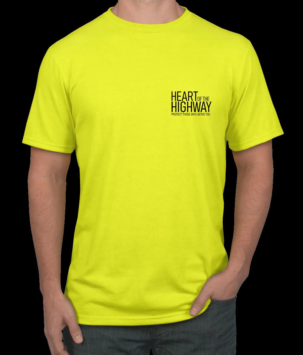 4145ba12e ADULT T-SHIRT (YELLOW) DESIGN #1 · HEART OF THE HIGHWAY · Online ...