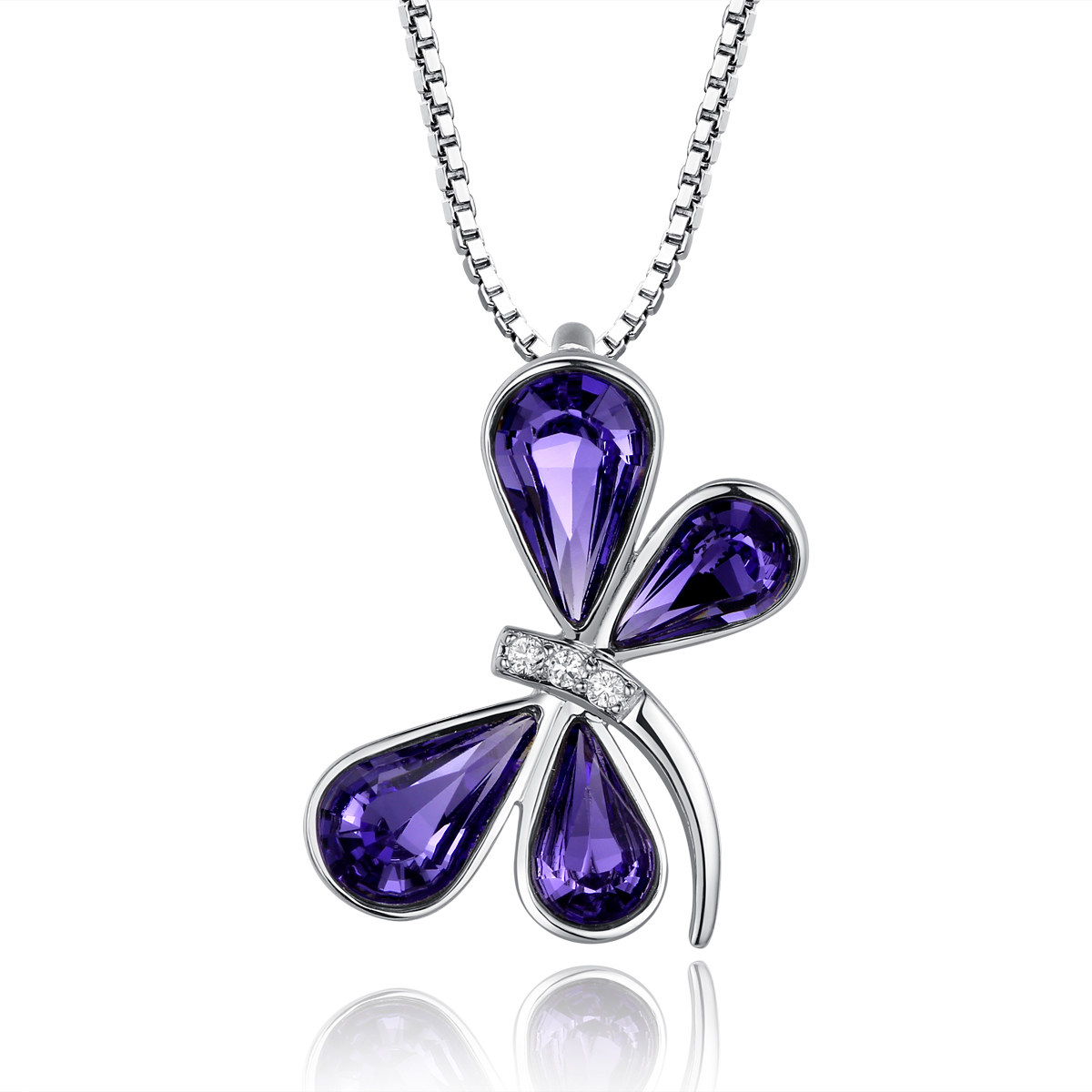 Genuine 100 925 sterling silver butterfly swarovski crystal pendant genuine 100 925 sterling silver butterfly swarovski crystal pendant necklace and 18 inch silver chain aloadofball Image collections