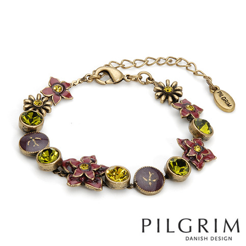 pilgrim crystal charm bracelet contemporary designer. Black Bedroom Furniture Sets. Home Design Ideas