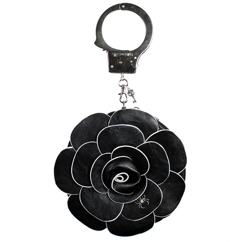 Black Rose Handcuff Clutch