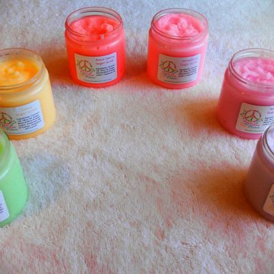 Choose 3 body scrubs 4 oz jars