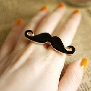 Vintage Adjustable Mustache Double Ring