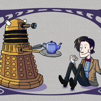 Doctor Dalek Tea Print