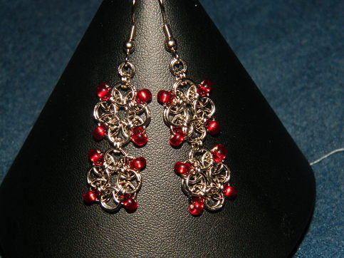Ruby drop earings