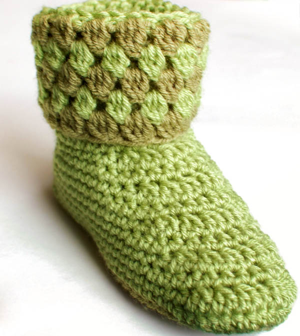 All Crochet Com : Crochet Pattern - Ladies Crochet Booties Slippers Pattern (Womens ...