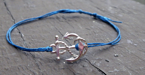 Anchor Bracelet  available in 10 colors!