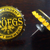 Troeg's Brewery Upcycled Cap Push-Pin Set of 2