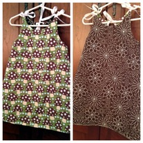 **ON SALE** Mellow Mushroom/Brown Floral Dot Reversible Dress