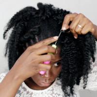 Natural Looking Crochet Afro Kinky Synthetic Hair - Thumbnail 2