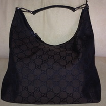 Gucci drak brown large HoBo bag classic