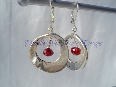 Pewter and Crystal earrings
