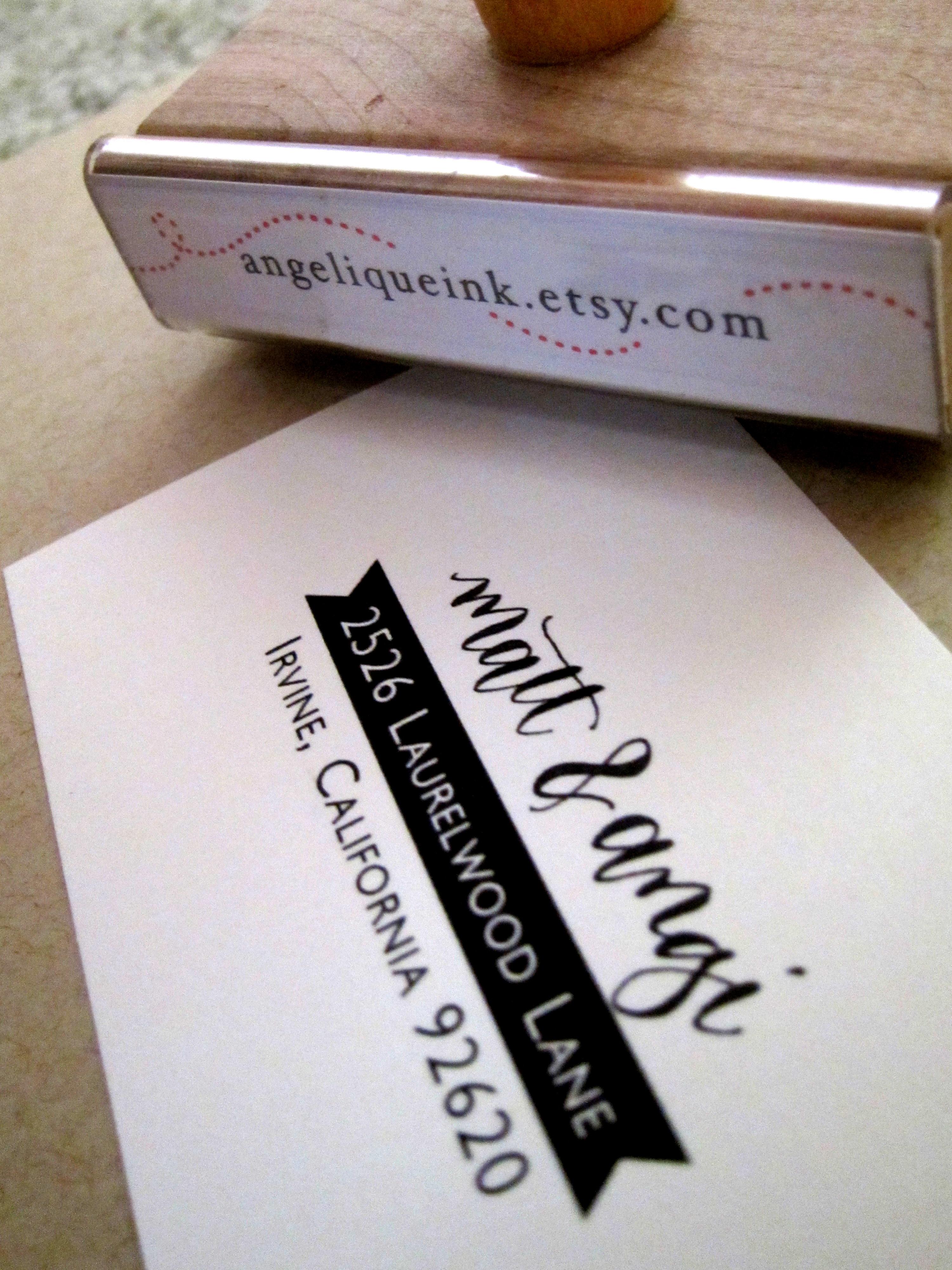 Custom Calligraphy Address Stamp Hand Calligraphy And