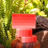 Red Ombre Coconut Soap