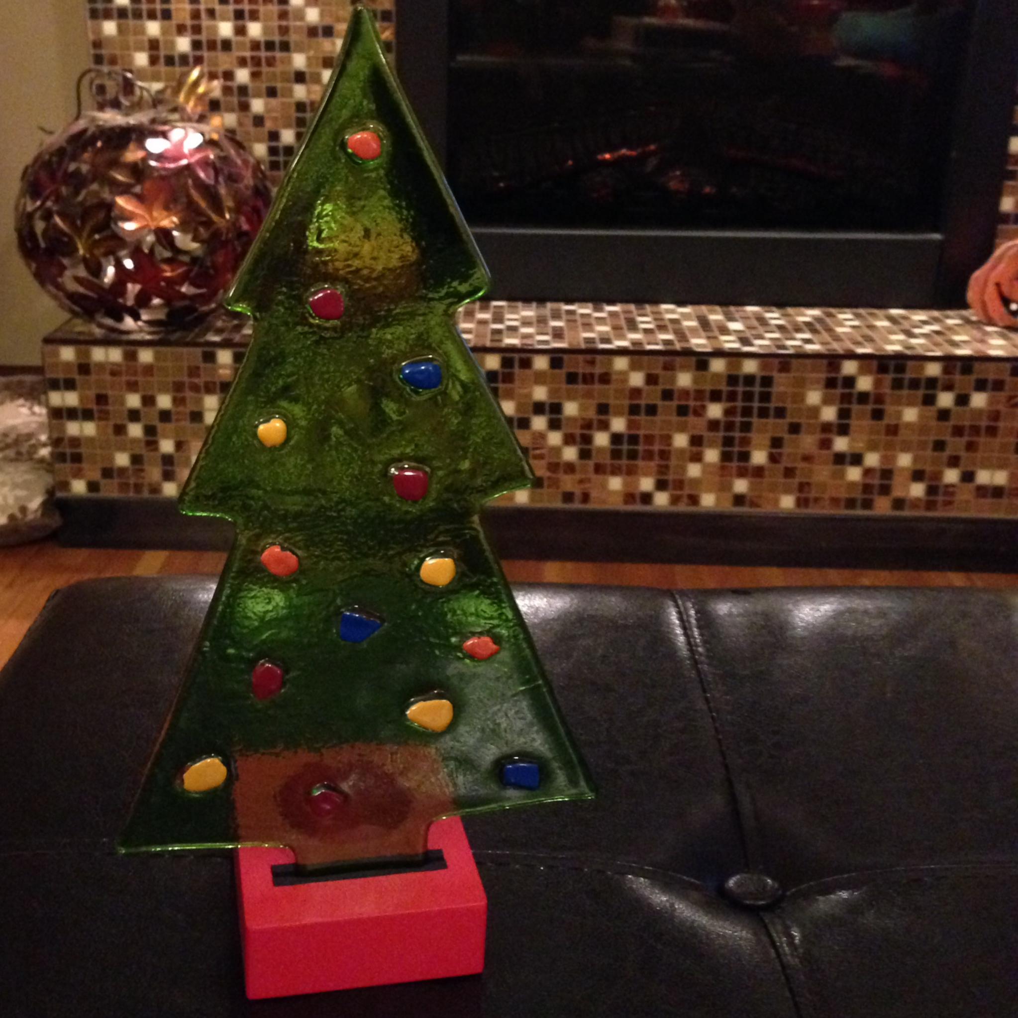 Glass christmas tree tea light · allisonicole s online
