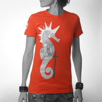 Women's Seahorse Knight - Orange