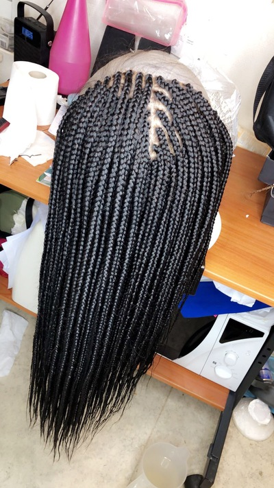 Handmade Closure Box Braids Wig