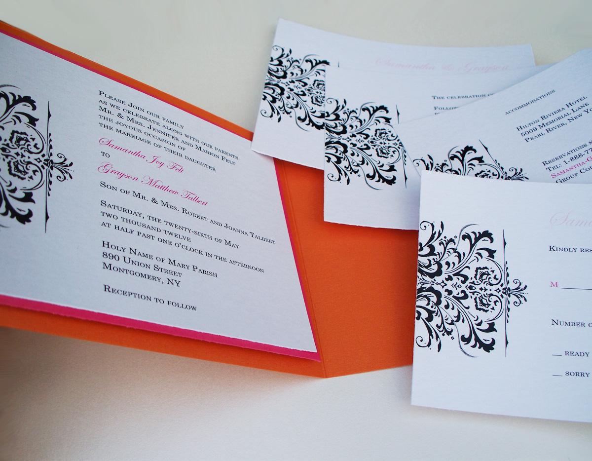 50 Spring Fling-Deluxe 5 x 7 Inch Glam Pocket Wedding Invitation ...