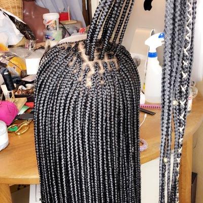 Closure box braids wigs