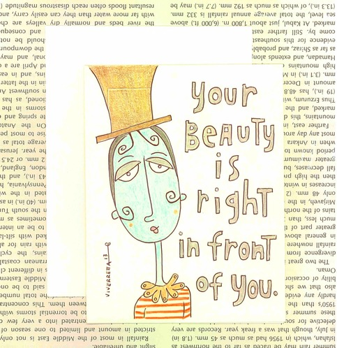 Your Beauty Is Right In Front Of You - Card