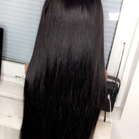 Straight Human Hair Wig (Handmade) - Thumbnail 2