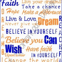 Inspirational subway art digital file {Blue & Orange}