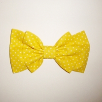 Banana Yellow Dotty Bow