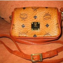 "Authentic *MCM* - SHOULDER BAG ""MONIQUE"" in cognac / tan"
