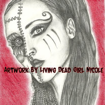 "Art Print of ""Doll Face"" by Living Dead Girl Nicole"