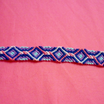 Twisted Diamonds Braided Friendship Bracelet