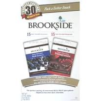 Brookside Dark Chocolate Acai Blueberry and Dark Chocolate Pomegranate 30 Count 100 Calorie Packs