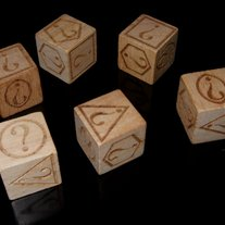 Set of 6 personalised custom dice.