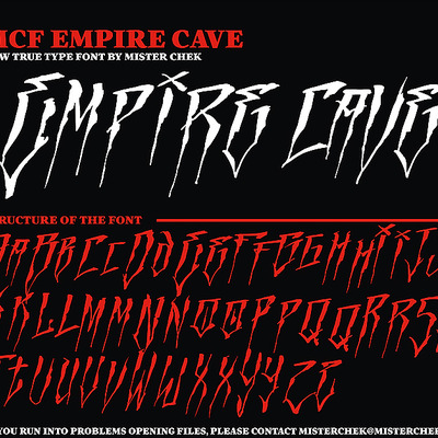 Empire cave font by mr. chek [new]