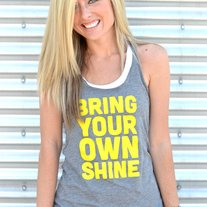 Bring Your Own Shine Razor-Back Tank