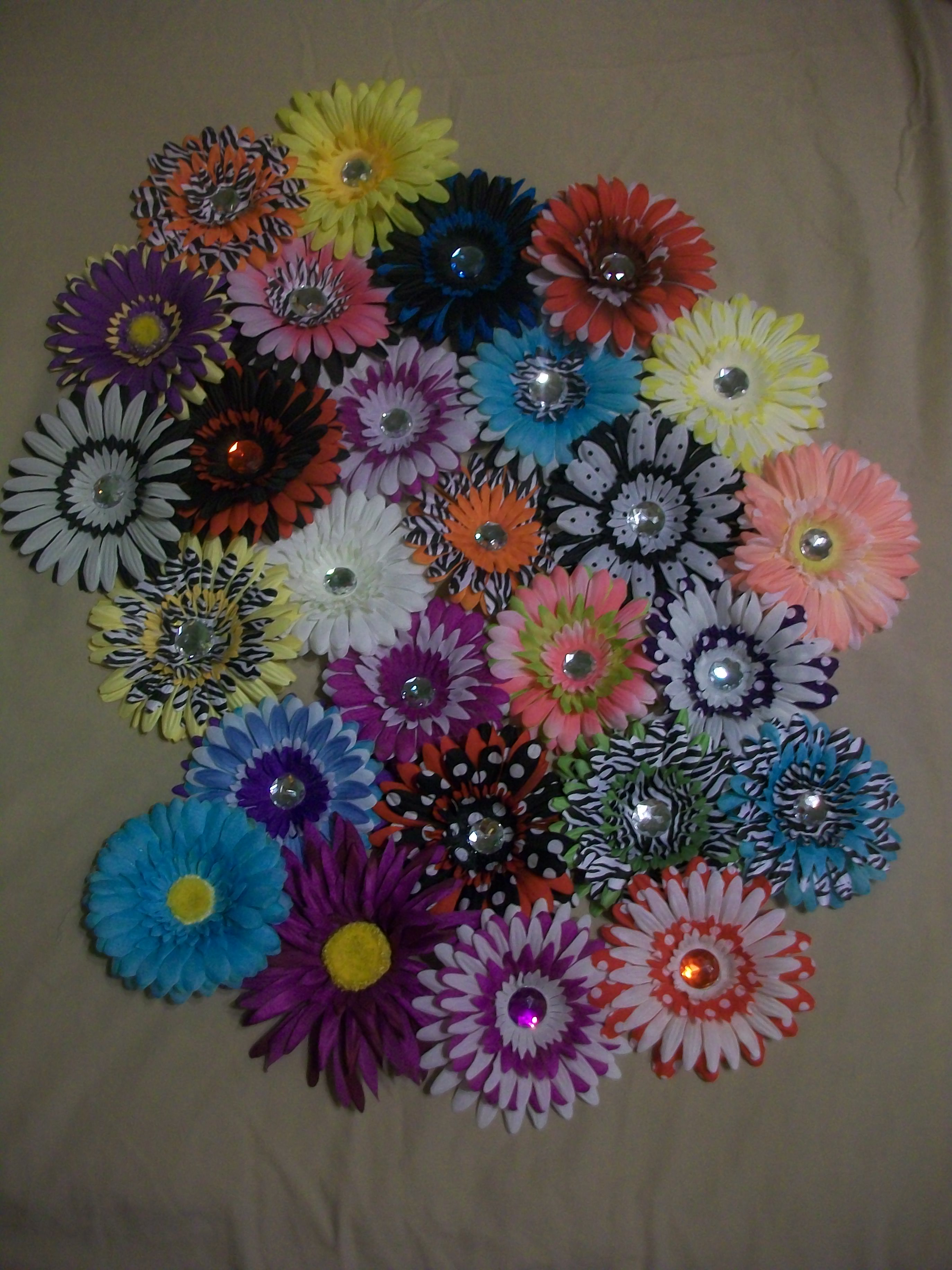 Flower Creations By Julie Solid Color Flower Hair Clips Online