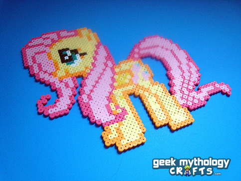 Fluttershy My Little Pony Perler Bead Sprite