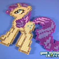 Rarity My Little Pony Perler Bead Sprite