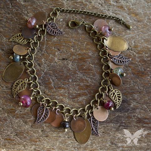 Leaf & Agate Gypsy Bracelet
