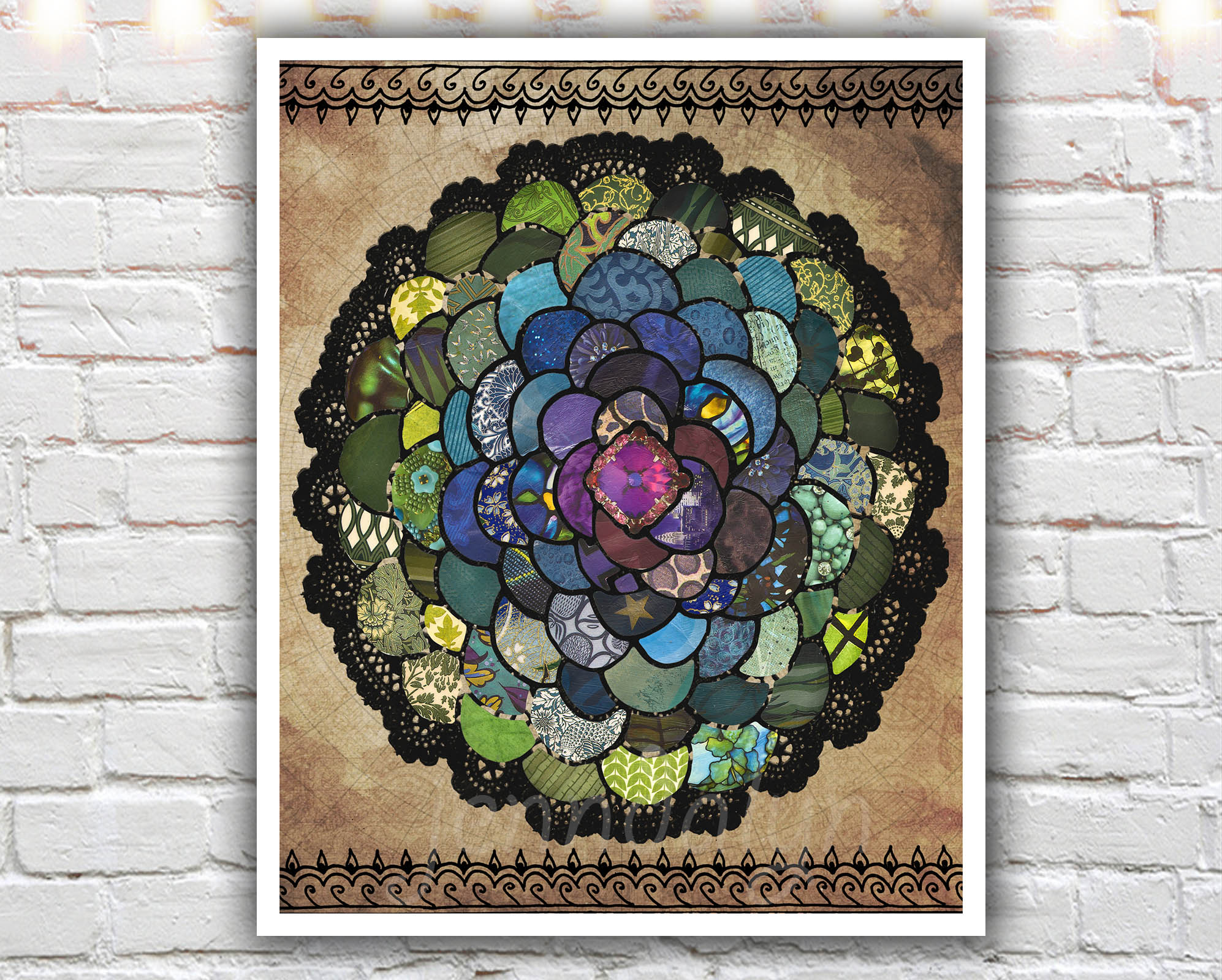 Hippie Chic Wall Decor : Peacockbloom paper print peacock art