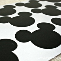 Mickey Mouse Chalkboard Vinyl Labels