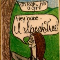 Old school I Speak Tree Bookmark