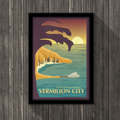 Pokemon travel poster - vermilion city