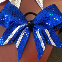 Blue/Black Glitzy Bow