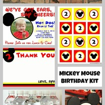 Digital Mickey Mouse Birthday Kit