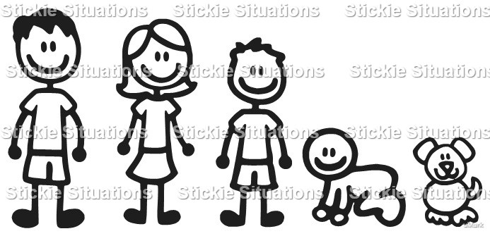 Family Car Decal Design   Stickie Situations  Online Store - Design car decals online