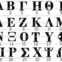 Greek fraternity letters vinyl decal stickie situations for Cheap greek letters